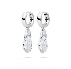 Kolczyki kolor biały kryształ Swarovski 12 mm