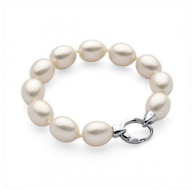 Bransoletka kolor kremowy perła 12 x 15 mm