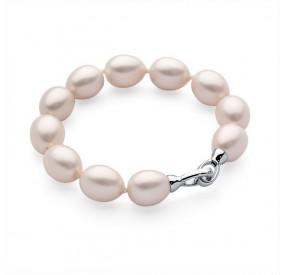 Bransoletka kolor różowy-jasny perła 12 x 15 mm