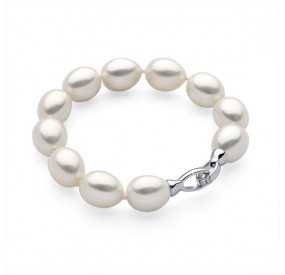 Bransoletka kolor biały perła 12 x 15 mm