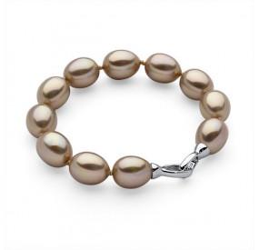 Bransoletka kolor złoty perła 12 x 15 mm