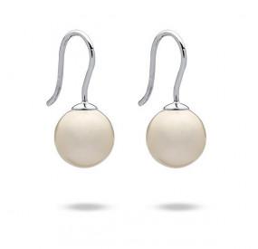 Kolczyki kolor kremowy perła 10 mm
