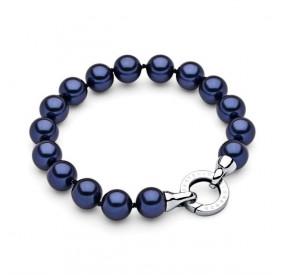 Bransoletka kolor granatowy perła 10 mm