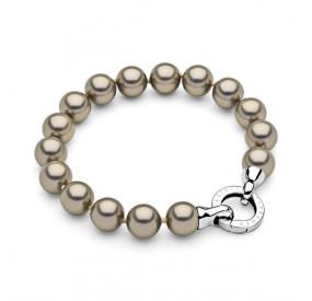 Bransoletka kolor złoty-antyczny perła 10 mm