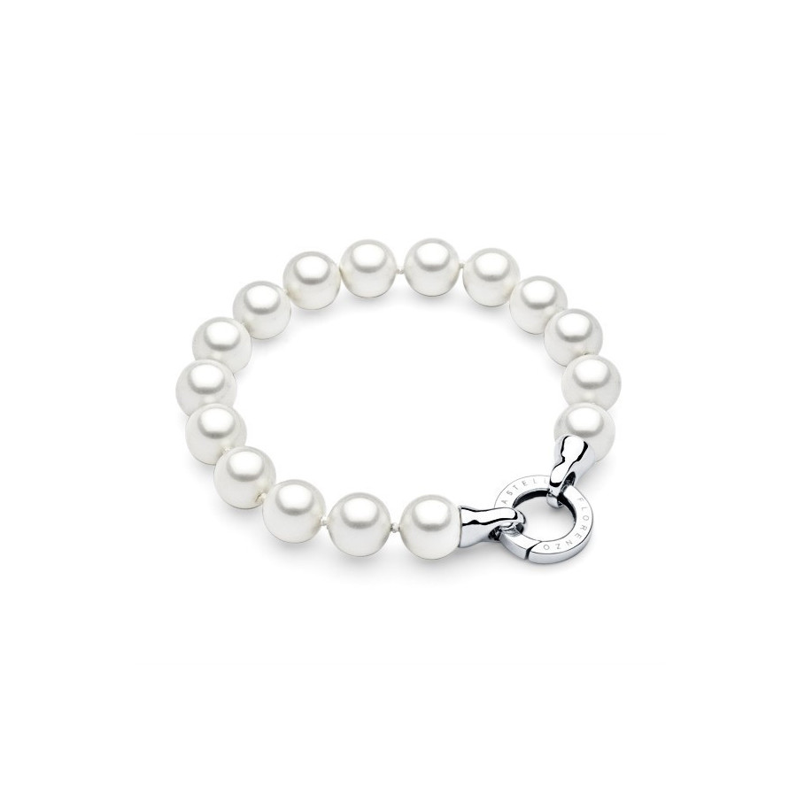 Bransoletka kolor biały perła 10 mm