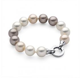 Bransoletka kolor kremowy-odcienie perła 12 mm