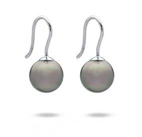 Kolczyki kolor beżowy-cappucino perła 10 mm