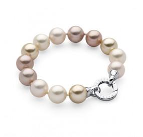 Bransoletka kolor kremowy perła 12 mm