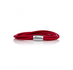 Bransoletka kolor czerwony skóra 2,5 mm