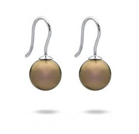 Kolczyki kolor złoty-antyczny perła 10 mm
