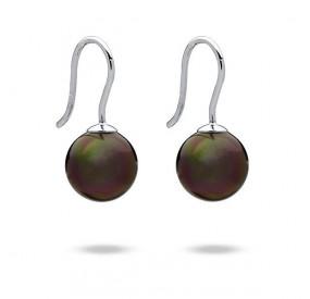 Kolczyki kolor brązowy-ciemny perła 10 mm