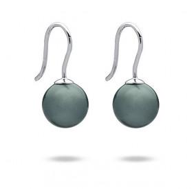 Kolczyki kolor niebieski-morski perła 10 mm