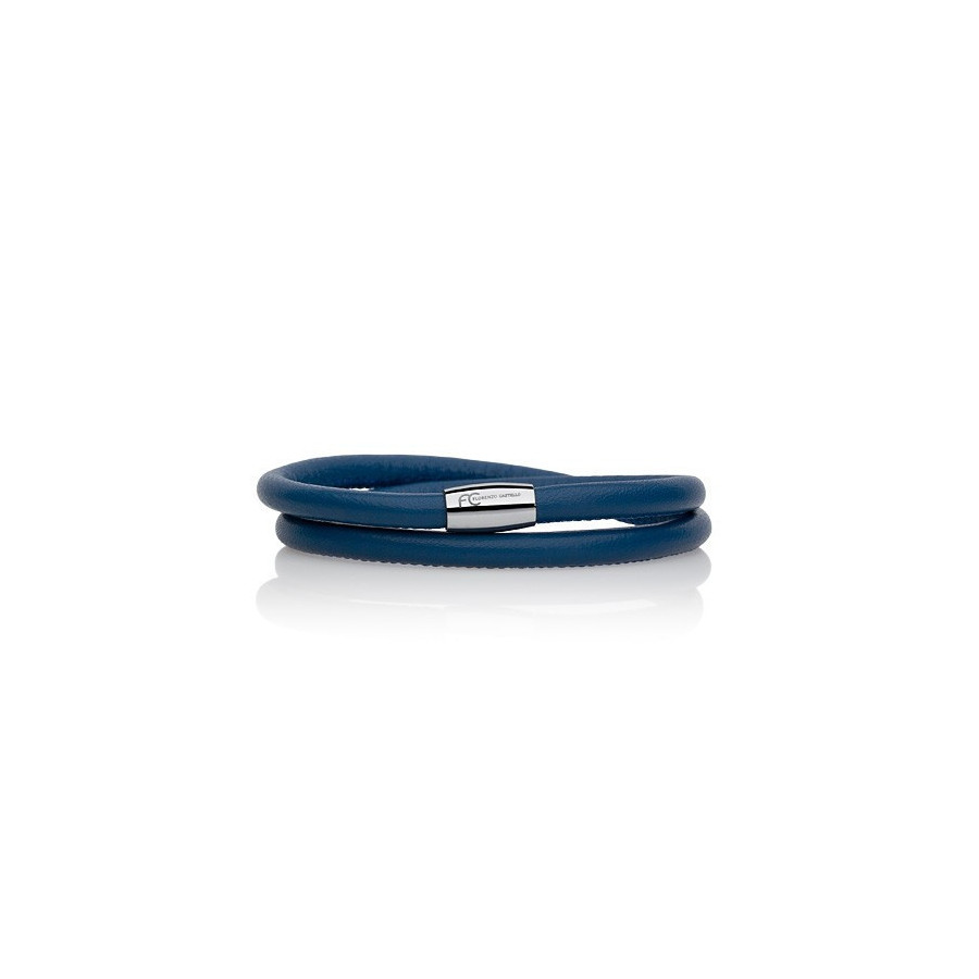 Bransoletka kolor niebieski skóra 5 mm