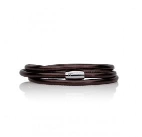 Bransoletka kolor brązowy-czekoladowy skóra 2,5 mm