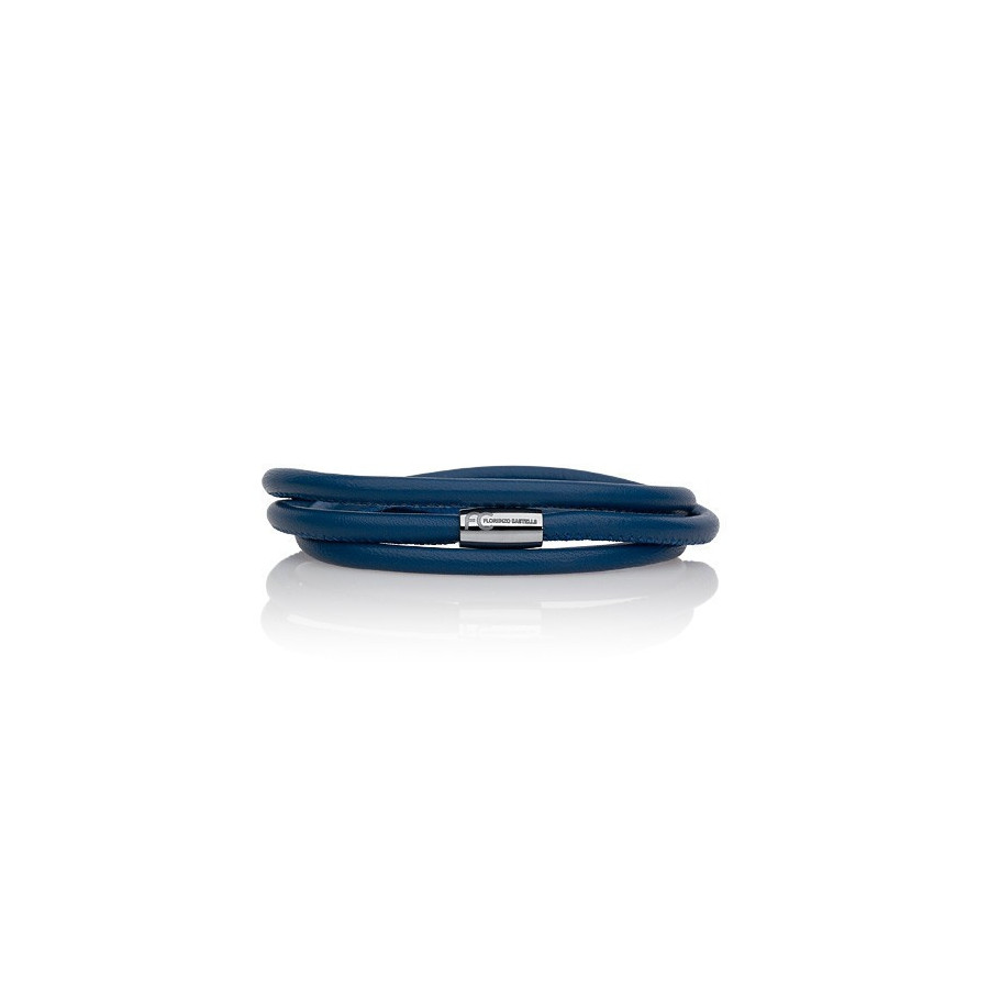 Bransoletka kolor niebieski skóra 2,5 mm