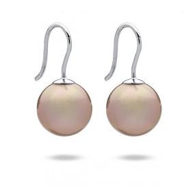 Kolczyki kolor różowy-pudrowy perła 12 mm