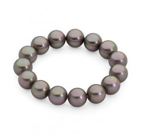 Bransoletka kolor różowy perła 12 mm