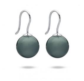 Kolczyki kolor niebieski-morski perła 12 mm