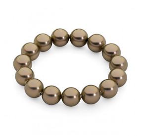 Bransoletka kolor złoty-antyczny perła 12 mm