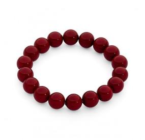 Bransoletka kolor czerwony-koralowy perła 10 mm