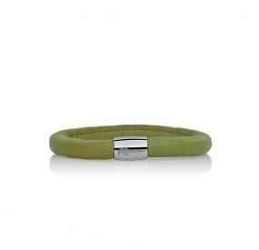 Bransoletka kolor zielony skóra 8 mm
