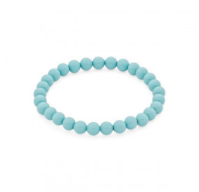 Bransoletka kolor turkusowy perła 6 mm
