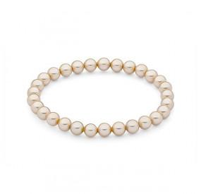 Bransoletka kolor złoty perła 6 mm