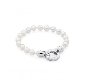 Bransoletka kolor biały perła 6 mm