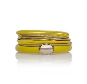 Zestaw bransoletek żółty złoty