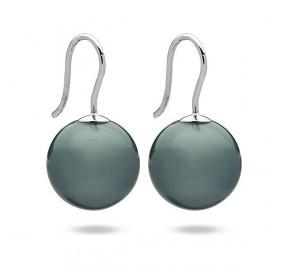 Kolczyki kolor niebieski-morski perła 14 mm